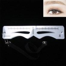 Hot Sale Pro Reusable Permanent Eyebrow Ruler Korean Style Eye Brow Measure Tool Eyebrow Guide Ruler Measuring Stencil Makeup