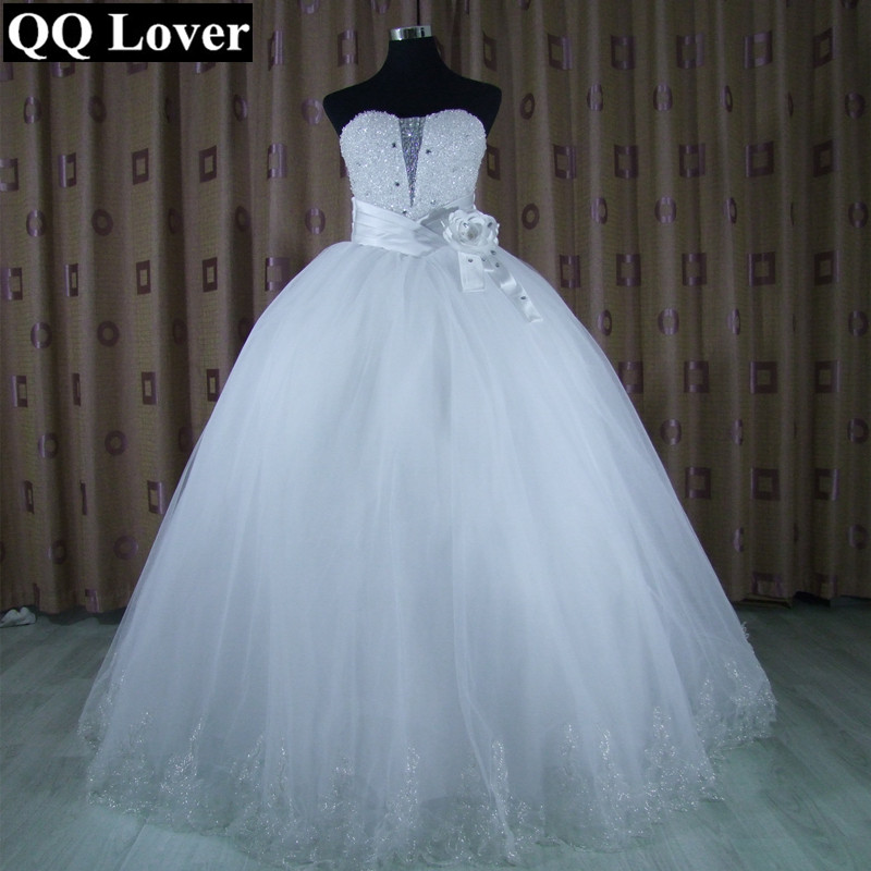 Royal Wedding Sticker Dress Up : Qq lover custom made sexy tube top royal lace up ball gown