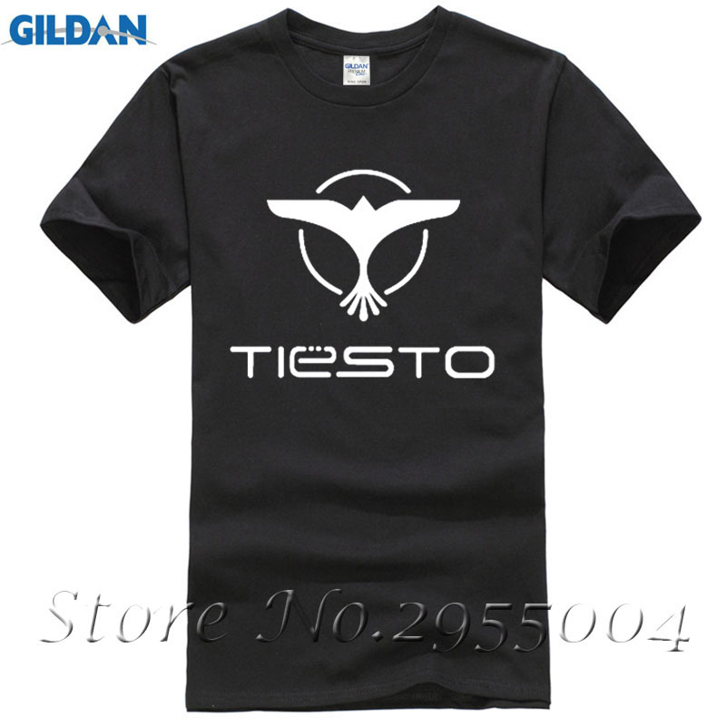 New Summer Personality T Shirts Dj Tiesto Trance Printed Funny Hip Hop T Shirts Men Brand Music Casual Cotton Top Tee Size