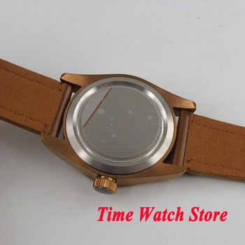CORGEUT 41mm men\'s watch black dial sapphire glass copper coated case Automatic wrist watch men cor5