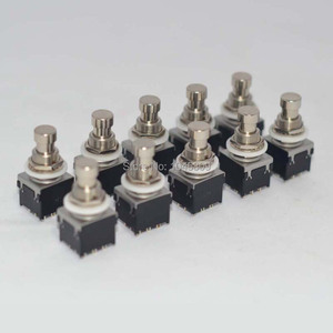 Image 3 - 10 x 3PDT 9PIN Fuß Schalter Für Effekte pedal Box Stomp, True Bypass Gitarre Zubehör