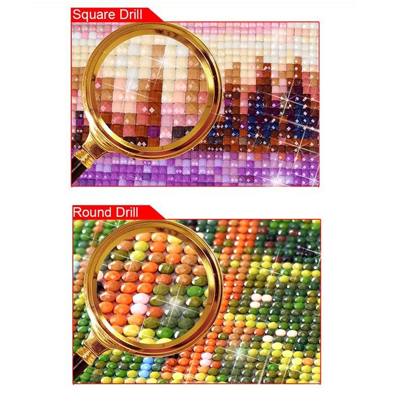 Diadiy квадратная мозаика круглая бриллиантовая вышивка Фэнтези Замок 5D DIY Алмазная картина вышивка крестиком Ландшафтная мозаика с бриллиантами домашний декор искусство