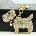 Горный хрусталь собака cachorros сувениры инновационные элементы новизны творческий подарок автомобиль брелки кольца держатель брелки для сумок 2016 новый