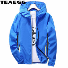 ФОТО teaegg plus size 5xl 6xl jackets women 2018 summer spring men women's hooded female jacket bluethin windbreaker women coat al872