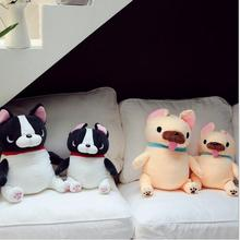 WYZHY down cotton sitting posture French bulldog pillow plush toy sofa decoration to send friends and children gifts 40cm