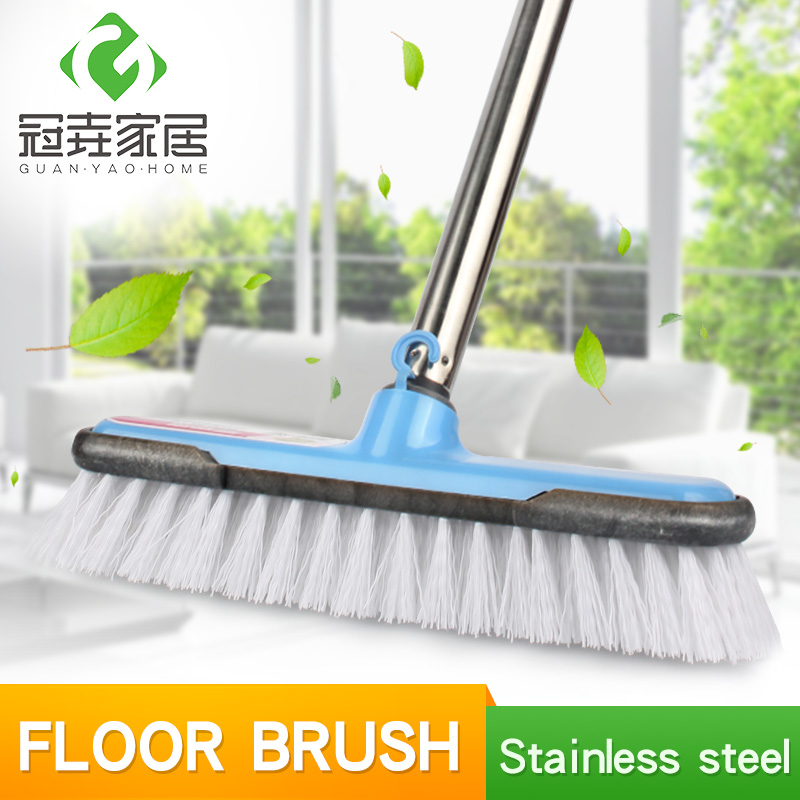 """Floor Cleaning Brushes With Long Steel Handle 47"""" Bristle"""