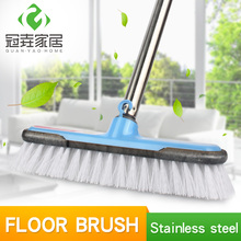 Floor Cleaning Brushes with Long Steel Handle-47