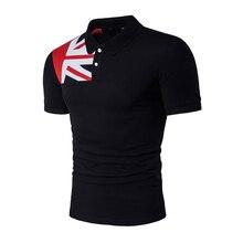 Casual Polo Shirt Men Brand Cotton Mens Flag Short Sleeve Slim Male Poloshirt Summer Camisa Classic
