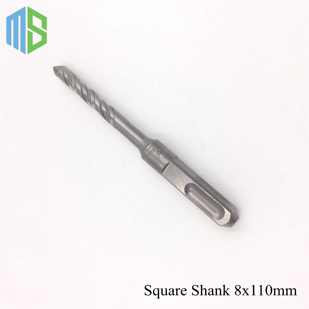 8x110mm Solid alloy Tip SDS Plus Square Shank Rotary Hammer Drill Bits for home DIY Electric Decoration Using Wall Hole Saw hammer sds 10 x 110