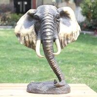 Как латунь статуя слона Luck произведений искусства, как животного украшения домашнего интерьера абстрактные украшения подарки