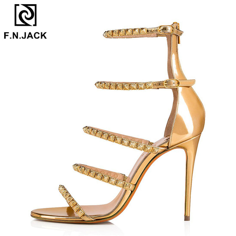 F.N.JACK New Arrival Sexy High Heel Womens Sandal Summer Lady Shoes Fashion Female Sandals with Buckle Classic ColorF.N.JACK New Arrival Sexy High Heel Womens Sandal Summer Lady Shoes Fashion Female Sandals with Buckle Classic Color