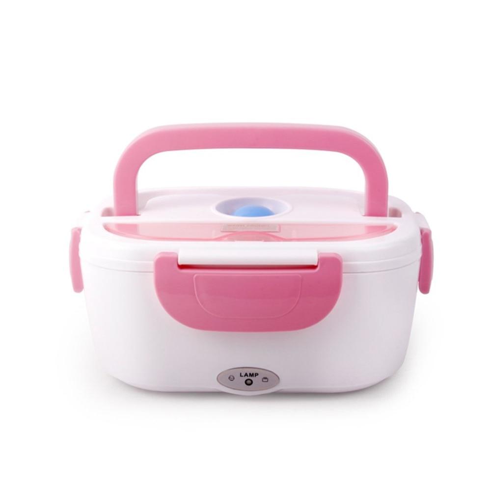 Spina di UE 220 V AC Portatile Elettrico Riscaldato Lunch Food-grade Alimentare Set contenitore di Cibo Warmer Bento Con Per i bambini della Scuola Box Hot
