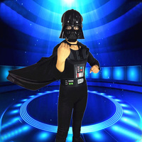 Darth Vader Anakin Skywalker Darth Vader Costume Suit Kids Movie Costume For Halloween Party Cosplay Children