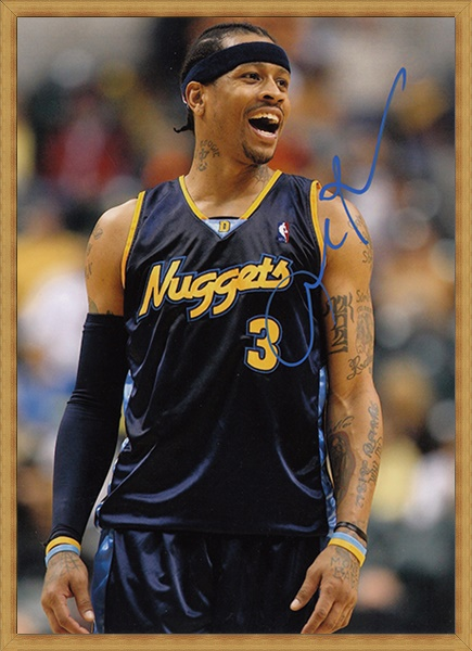 best website b5363 7d87b US $29.99 |signed Allen Iverson utographed hand signed original photo  football player autographs 7 inches freeshipping 012018B-in Cards &  Invitations ...