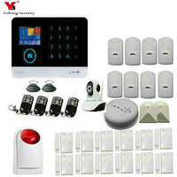 YobangSecurity Touch Screen Keypad Wifi GSM IOS Android APP Wireless Home Burglar Security Alarm System Kit Siren Smoke Detector