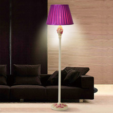 Buy purple floor lamp and get free shipping on aliexpress tuda 2017 simple floor lamp decoration lamp sitting room floor lamps rose carved garden lamp purple aloadofball Gallery