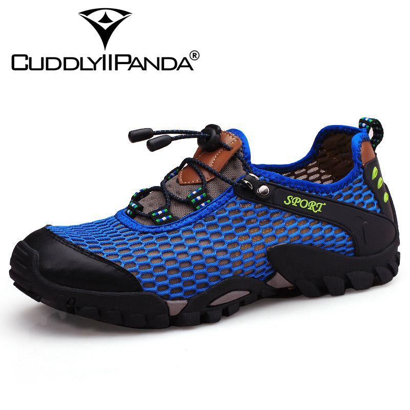 CuddlyIIPanda 2018 New Arrival Men Summer Causal Breathable Shoes Male Fashion Elastic Band Massage Mesh Leisure Beach Shoes