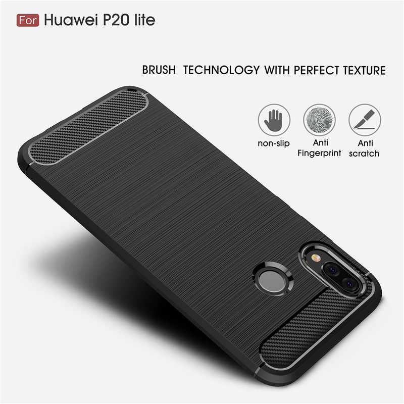 Kapak için Huawei P20 Lite Durumda Huawei Nova 3e Yumuşak Silikon Sağlam Tampon Kılıfı telefon kılıfı Için Huawei P20 Lite Kapak 5.84''