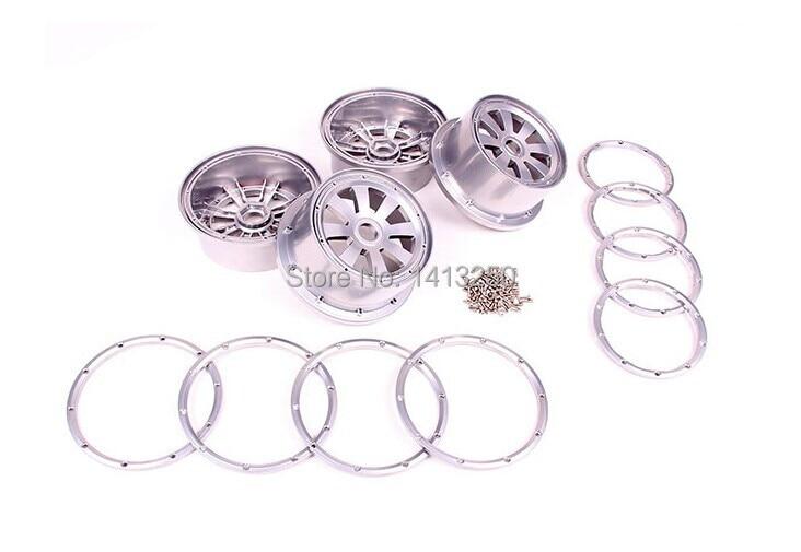 alloy wheel hub set for baja 5t/5sc ,silver color  free shippings xr e2530sa color wheel 5 color beam splitter used disassemble