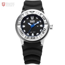 NEW SHARK ARMY Sports Watches Date Display Silicone Strap Male Military Clock Quartz Luxury Montre Homme Wrist Watch /SAW102
