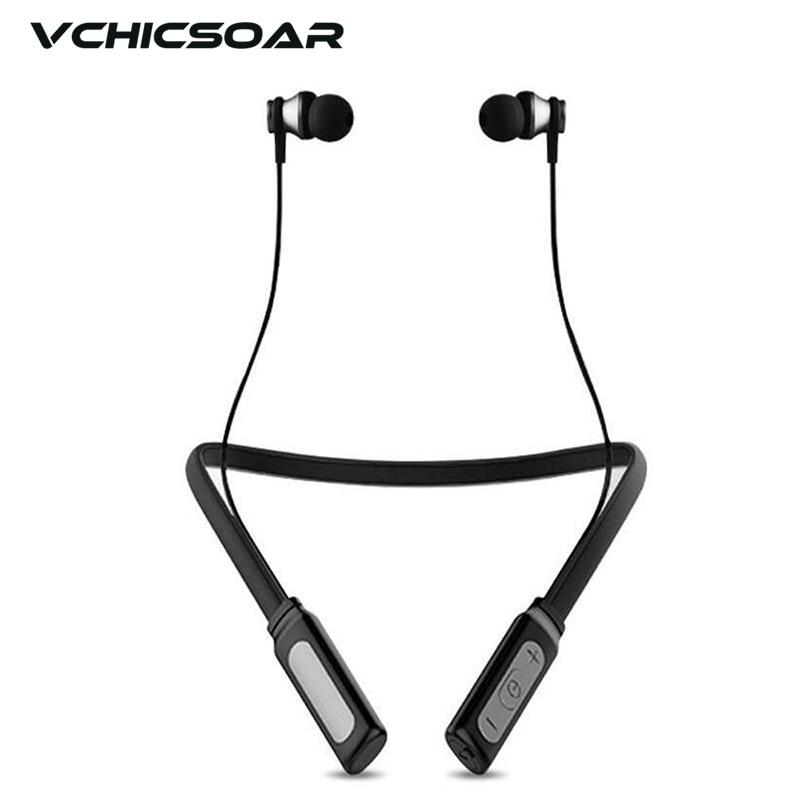 Vchicsoar HT1 New Sports Bluetooth Headphones Wireless Headset V4.1 IPX4 Waterproof Stereo Magnetic Neckband Earphones with Mic