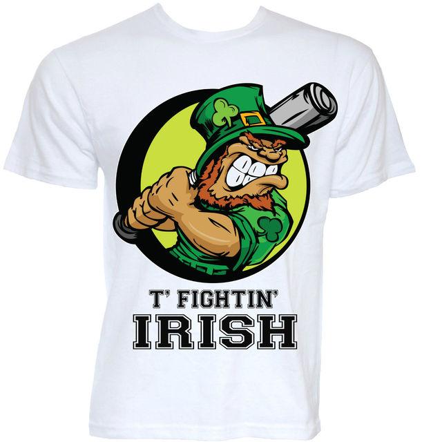 18f08eba MENS FUNNY COOL NOVELTY IRISH IRELAND JOKE SPORTSer BOXINGer MMA GIFTS IDEA  T-SHIRTS Printed T Shirt Short Sleeve Men