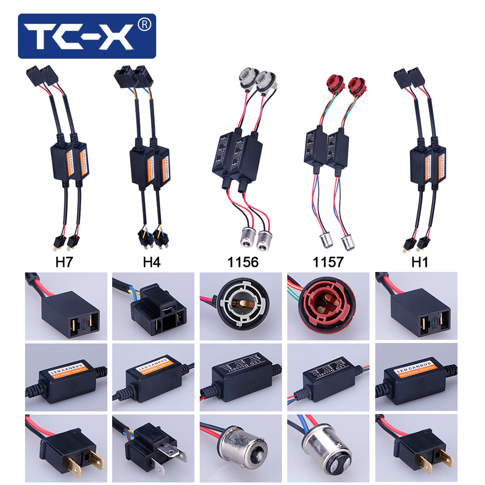 TC-X 1 Pair H1 H4 H11 H7 Canbus LED Error Free Decoder 1156 1157 9005 9006 Car Headlight LED Error Free Canbus Canceler Decoder