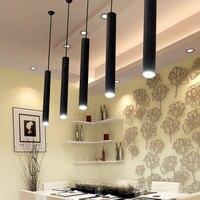 1 Piece Modern Led Restaurant Cafe Chandelier Cylindrical Long Tube Led Pendant Light Living Room Bedroom