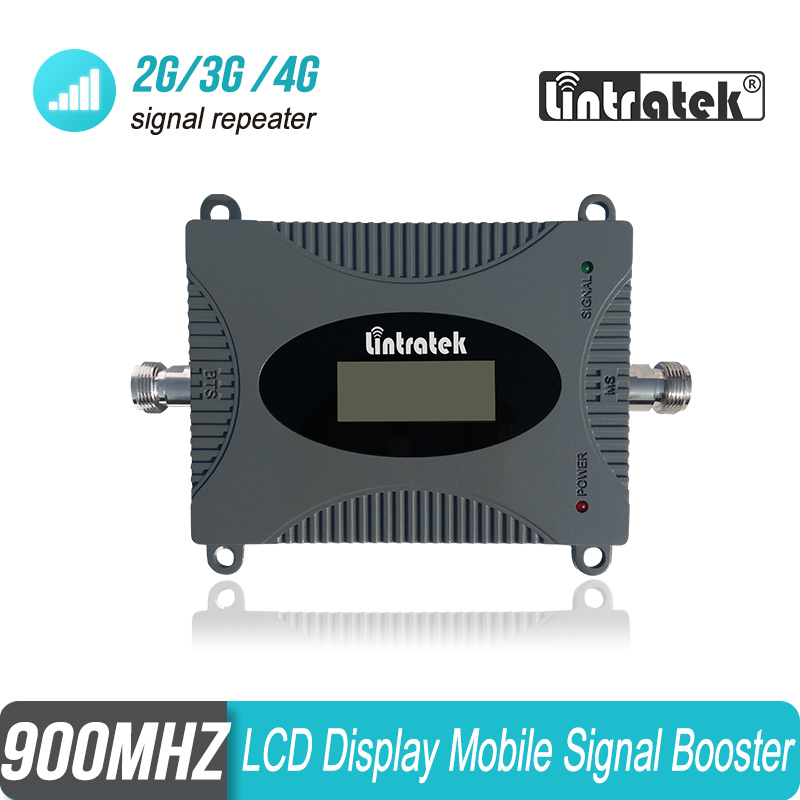 Lintratek 2g 3g 900mhz LCD Display Mobile Cellphone Cellular Signal Booster Repeater Amplifier For Europe & Asia Carriers #29