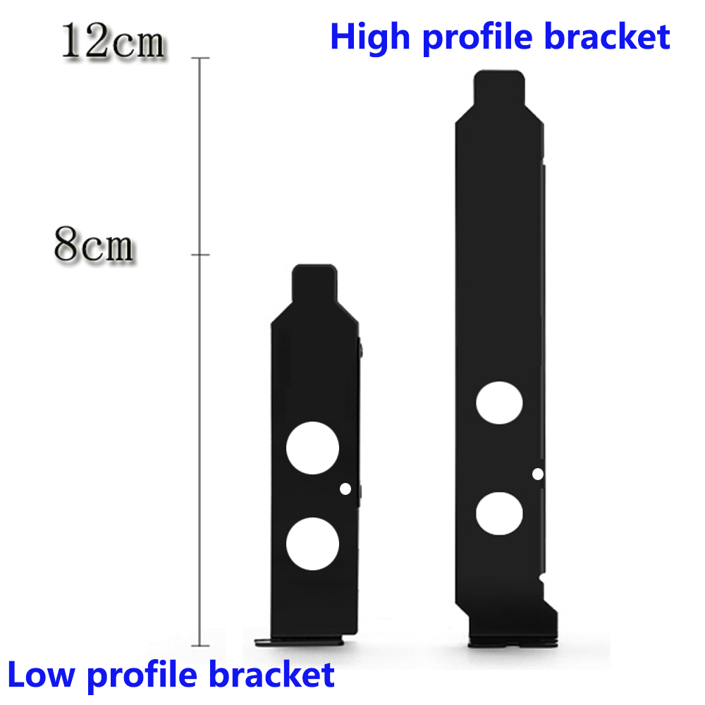 Low profile half size host case Bracket for pci-e pci express wifi card 8cm