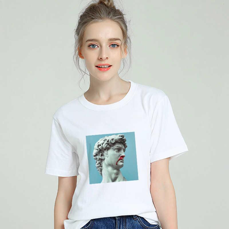 Harajuku estético david tshirt feminino algodão 2019 engraçado camiseta feminina manga curta mais tamanho branco t camisa sexy tumblr topo t