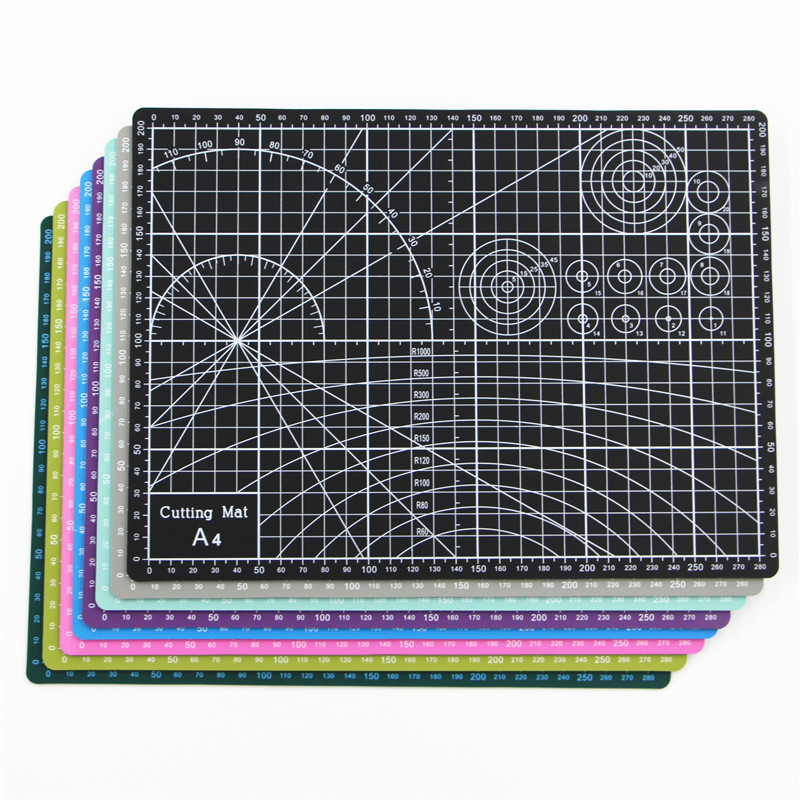 Double-sided Cut Pad Non Slip PVC Cutting Mat A4 For Fabric Leather Paper Craft  Patchwork Tool  DIIY Sewing Accessories