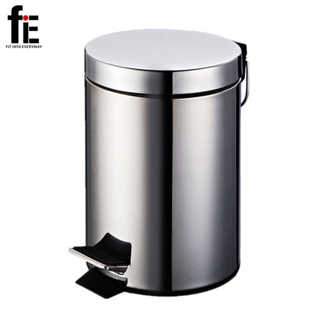Bathroom Toilet 3/5/7L Stainless Steel Garbage Bin Mini Dustbin Small Kitchen  Trash
