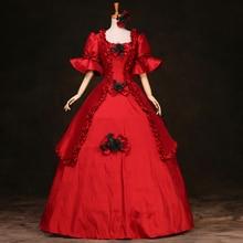 18th века Готический Винтаж бальное платье Театр костюмы костюм на Хэллоуин платья для женщин плюс размеры