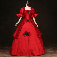 18th Century Gothic Vintage Ball Gown Theatre Clothing Halloween Costume Dresses Plus Size