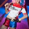 Batman Arkham Asylum City Suicide Squad Harley Quinn Costume T Shirt Daddy's Lil Monster T-Shirt Shorts Joker Cosplay Costumes