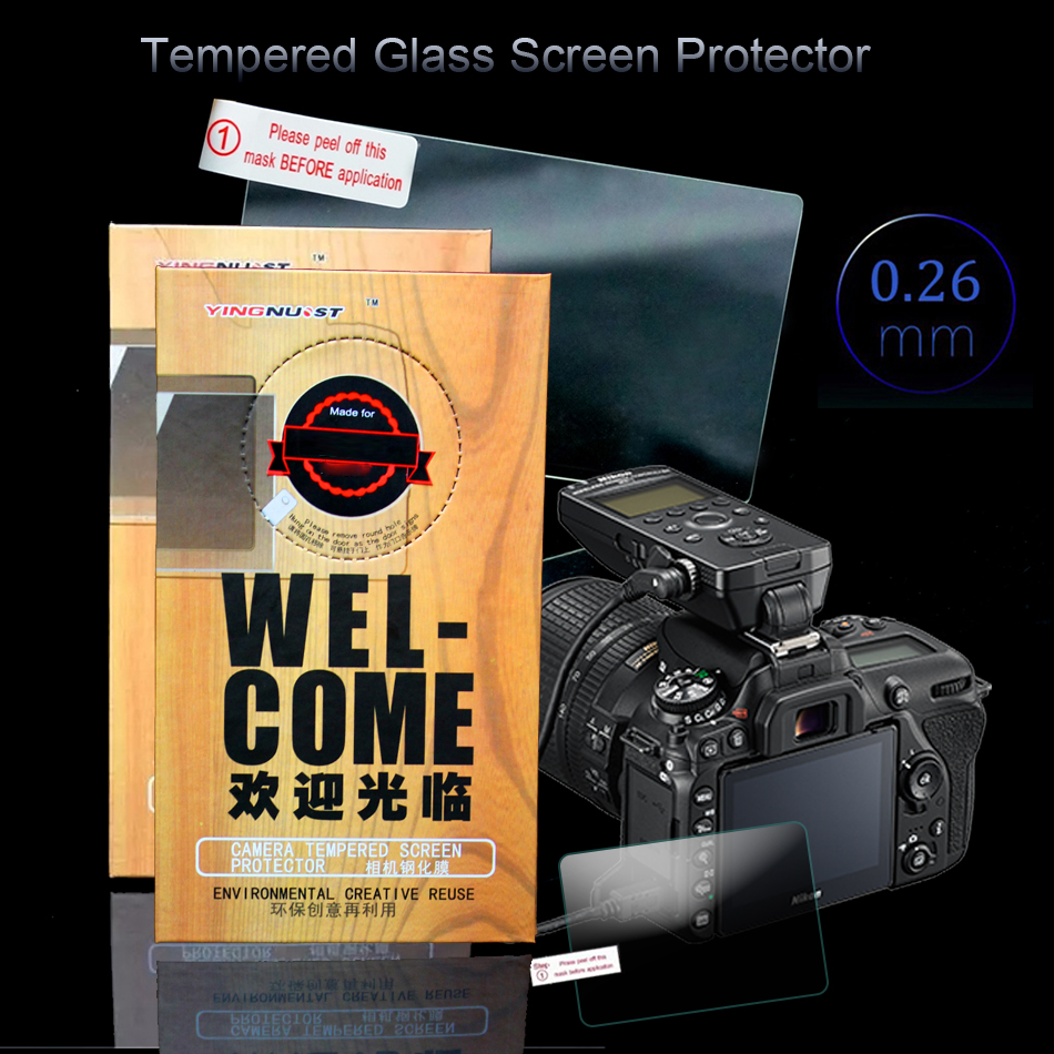 Original Tempered Glass Screen Protector For Nikon D90 D7000 D300 D700 D800E Special Screen LCD Camera Toughened Protective Film