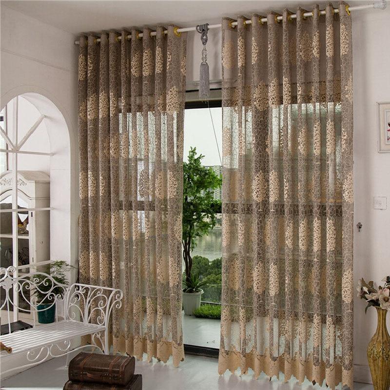 Sheer Cafe Curtains Cortinas Para Sala Decorative Door ...