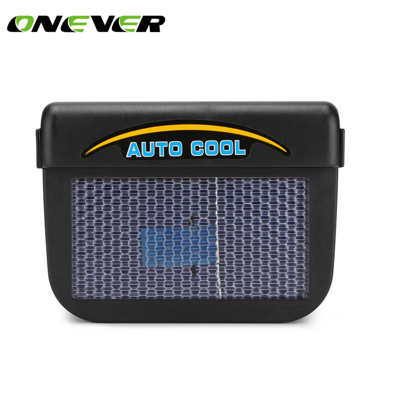 onever solar sun power mini air conditioner for car car window auto air vent cool fan portable. Black Bedroom Furniture Sets. Home Design Ideas