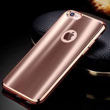 Мягкий силиконовый чехол для Apple iphone7 для iPhone 7/7 Plus 7 Plus покрытие силиконовый чехол для iPhone Роскошные цвета розового золота