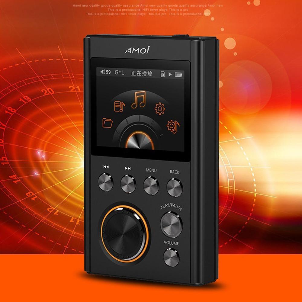 Mini lecteur MP3 DSD64 8 GB 16 GB 24Bit/192 Khz HiFi lecteur de musique MP3 complet en alliage de Zinc sans perte 128 GB stockage externe HD DACWM8965