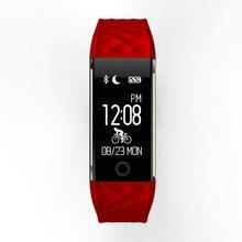 Продвижение S2 SmartBand Браслет Смарт с Шагомер Вибрационный будильник сердечного ритма Фитнес трекер IP67 Водонепроницаемый браслет