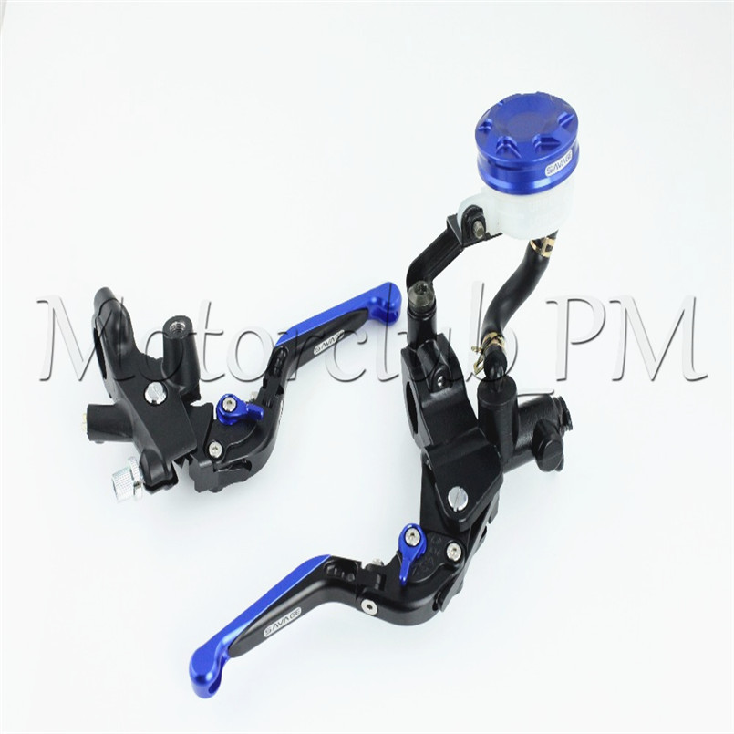 Universal 7/8 22mm Motorcycle Brake Clutch Lever Master Cylinder Kit Reservoir 125c.c. to 400 c.c. Sport Stree bike Scooter 38mm cylinder barrel piston kit