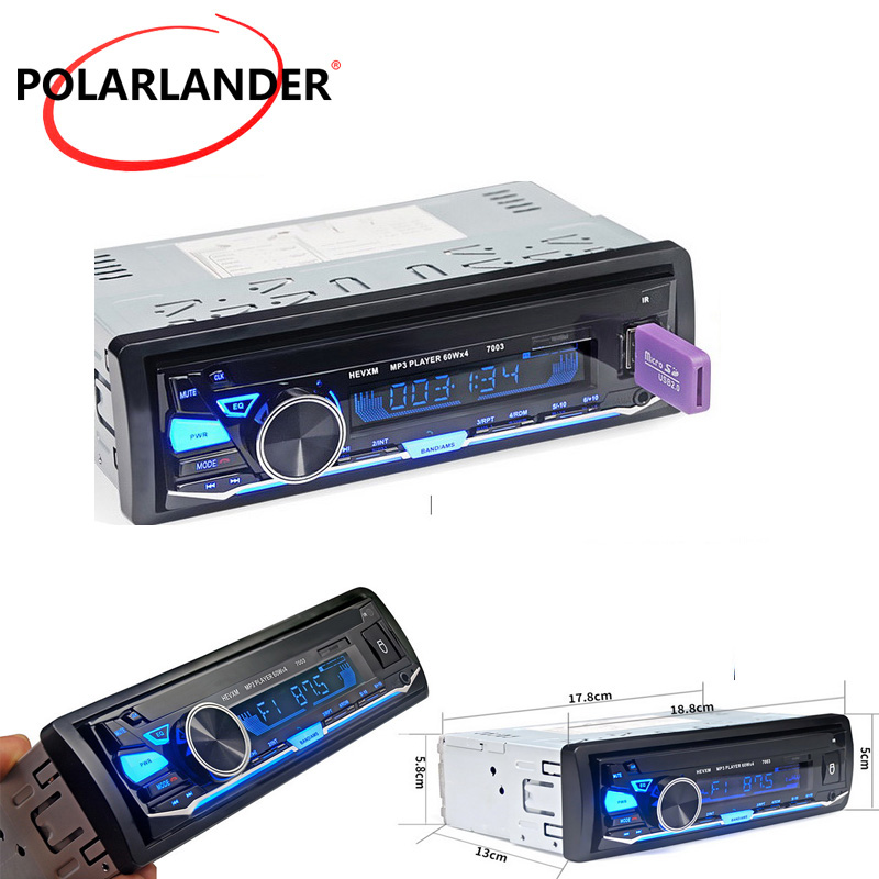 Cassette Recorder Car MP3 Player Radio 7003 New Arrival In dash Car Auto magnitol Radio Stereo Audio Player 1 Din 12V Bluetooth