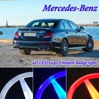 Car Styling 4D Cold Light LED Badge Emblem Logo Light for Mercedes Benz w212 w203 w221 s350 s300l 8.7cm Rear Badge Emblem Light