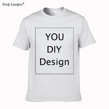 2018 cool Customized Men s T Shirt Print Your Own Design High Quality Cotton T Shirt