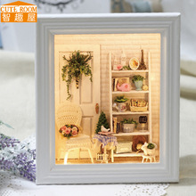 DIY Wooden House Miniaturas with Furniture DIY Miniature House Dollhouse Toys for Children Christmas and Birthday Gift W05