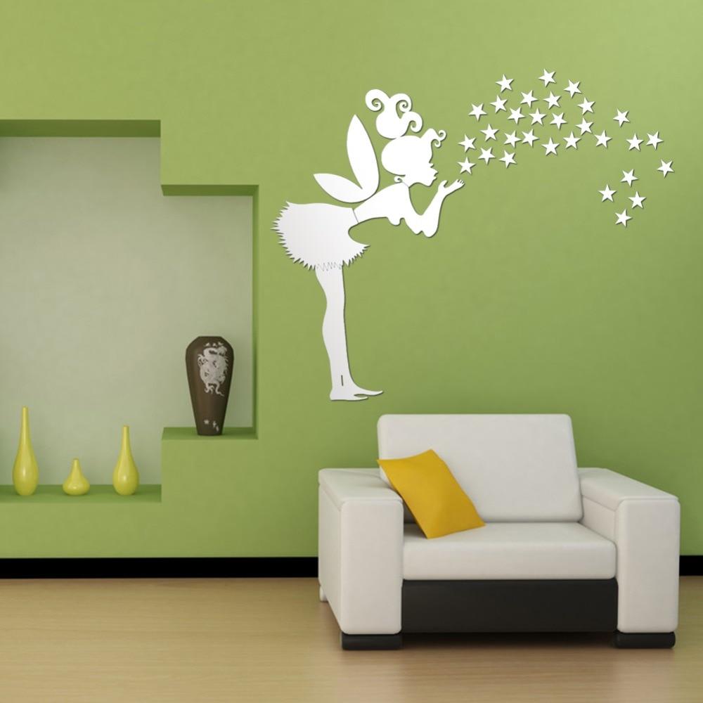Home Decor Kids Bedroom Decoration 3d Mirror Stickers 35