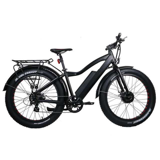 e5358d6af8c Electric Bike Powerful Fat Tire Electric Mountain Bike double motors AWD  eBike Beach Cruiser Electric Snow Bicycle-in Electric Bicycle from Sports  ...