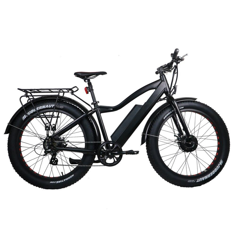 Vélo électrique Puissant Fat Tire vtt électrique double moteurs AWD eBike vélo de plage Électrique Neige Vélo